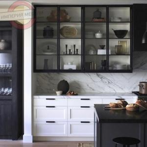 Кухня прямая линейная маленькая №1
