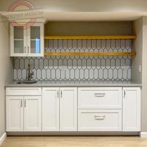 Кухня прямая линейная маленькая №7