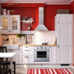 Кухня прямая линейная, небольшая (ДСП) №2