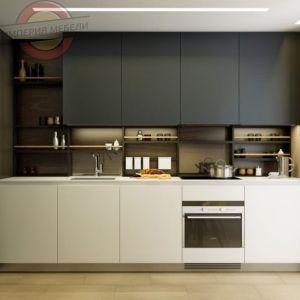 Кухня прямая линейная недорогая №5