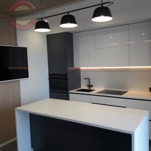 Кухня прямая линейная маленькая №14