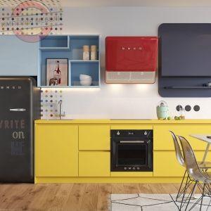Кухня прямая линейная недорогая №2
