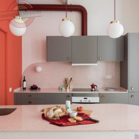 Кухня прямая линейная маленькая №6