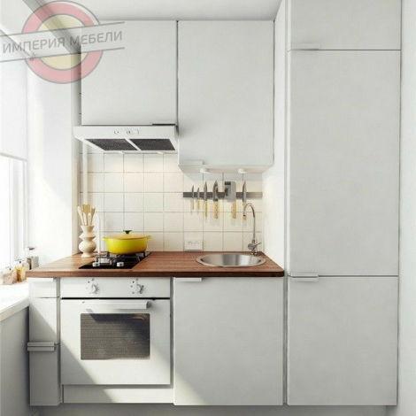 Кухня прямая линейная, эконом (ДСП) №26