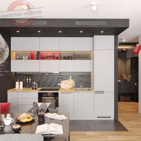 Кухня прямая линейная №20