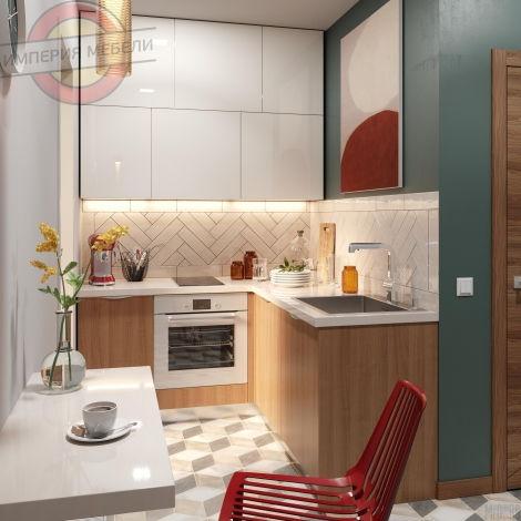 Кухня маленькая угловая №13