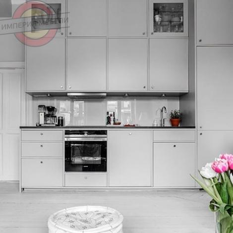 Кухня прямая линейная №19