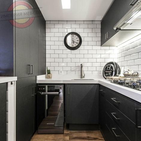 Кухня недорогая прямая линейная №18
