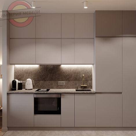 Кухня маленькая прямая линейная №6
